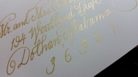 Gel ink GOLD